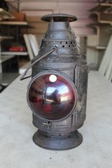 Railroad Switch Lantern Marked CH & DRY - 3