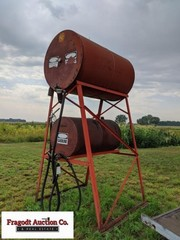 300 gallon overhead gas barrel on stand