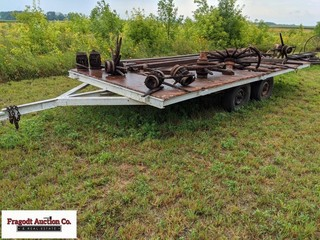 8?x16? tandem flatbed trailer