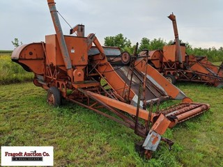 66 Allis-Chalmers combine with pickup, includes ca