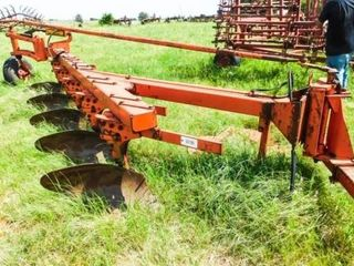 Allis Chalmers semi mt 5 16 plow w rolling cutters
