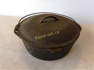 Cast Iron Bean Pot with Lid