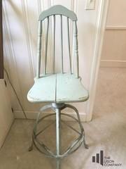 Aqua Wooden Swivel Chair