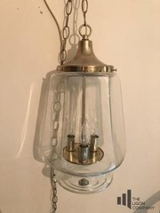Glass and Brass Light Fixture