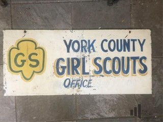 York County Girl Scouts Office Metal Sign
