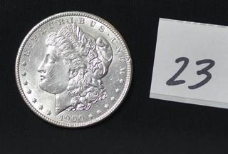 1900 Morgan Silver Dollar - No Mint Mark