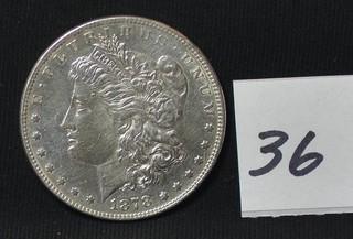 1878 Morgan Silver Dollar - No Mint Mark