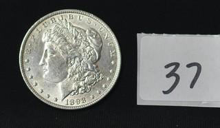 1898 Morgan Silver Dollar - No Mint Mark