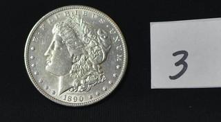 1890 Morgan Silver Dollar - No Mint Mark