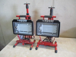 Husky Work Lights and stands