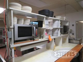 Prep table w 2 microwaves all supplies 0 JPG