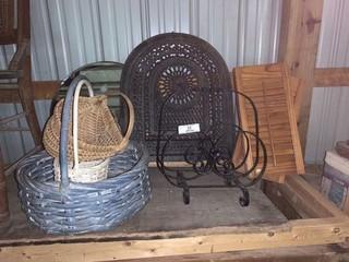 Basket, Magazine Rack, Heater Grate, Mirrors