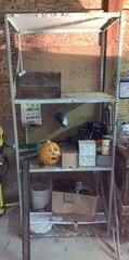 Shelf, Lamp & Shelf Contents