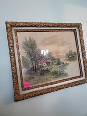 ANTIQUE FRAMED PICTURE