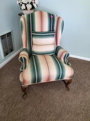 NICE CLOTH STRIPED CHAIR