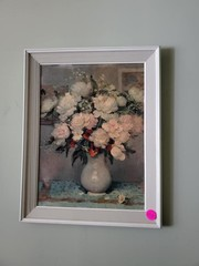 NICE FRAMED FLOWER BOQUET PICTURE