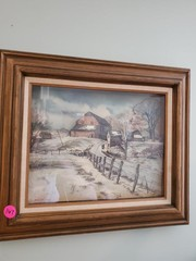 NICE OLD WOODEN FRAME PICTURE