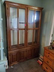 LARGE GUN CABINET - DOUBLE DOOR