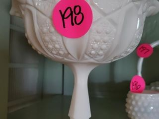 NICE MILK GLASS COMPOTE STAND