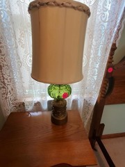 NICE ANTIQUE GREEN LAMP