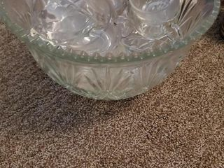LARGE PUNCH BOWL AND MISC. CUPS