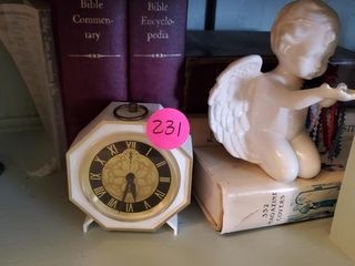 MISC. LOT - BOOKS AND VINTAGE CLOCK