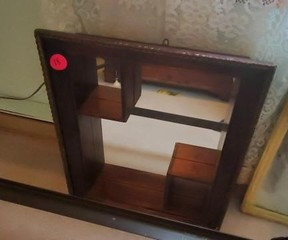 SQUARE MIRRORED BOX WALL DECOR