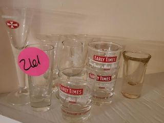 CLEAR / EARLY TIMES SHOT GLASS COLLECTION