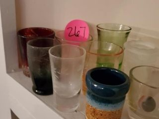 MISC. COLORS SHOT GLASS LOT