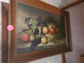 NICE OLD FRUIT PICTURE AND SCENIC PICTURE