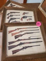 VINTAGE WESTERN WOOD FRAMED PRINTS