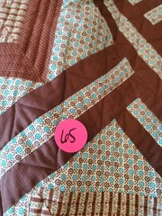 VERY NICE BROWN / BLUE QUILT