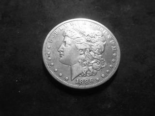 1886 O Morgan Silver Dollar