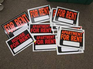 Lot of For Rent Signs *See Photos* ...