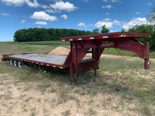 Load Trail tri-axle equipment trailer