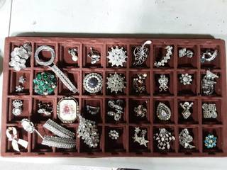 Lot Of Assorted Rhinestone Items (Organizer Not Included)
