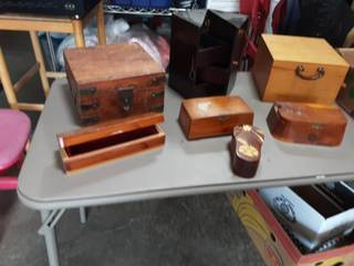 Lot Of Assorted Jewelry Boxes & Stash Boxes