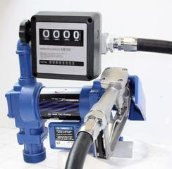 NEW 20 GPM 12V FUEL TRANSFER PUMP WITH GAUGE FTPWMG