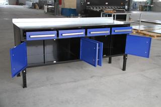 NEW STEEL WELDING TABLE & TOOL BENCH BLUE