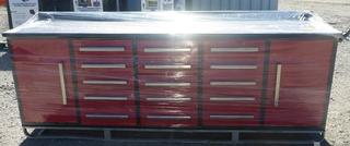 NEW 15 DRAWER RED STEEL WORK BENCH 15DR
