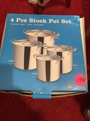 4 PIECE POT SET IN BOX