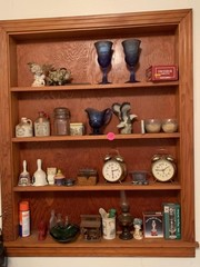 CONTENTS OF WOODEN SHELF