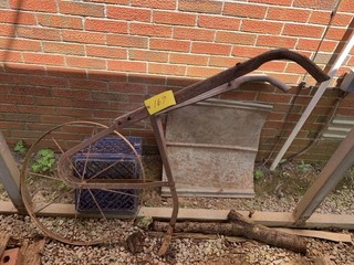 OLD WOOD & METAL PLOW