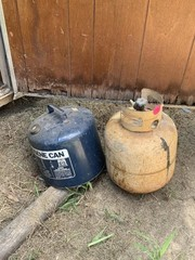 KEROSENE CAN AND PROPANE TANK