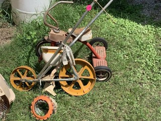 SEEDER W/ PLATES AND TRICYCLE