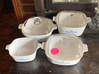 4 PIECE SET OF CORNINGWARE