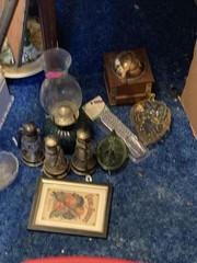OIL LAMP AND CONTENTS