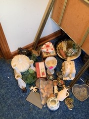 GLASS AND HOME DECOR LOT