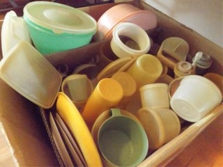 Box of Plastic Ware