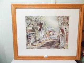 Print in Frame  Seaside Village